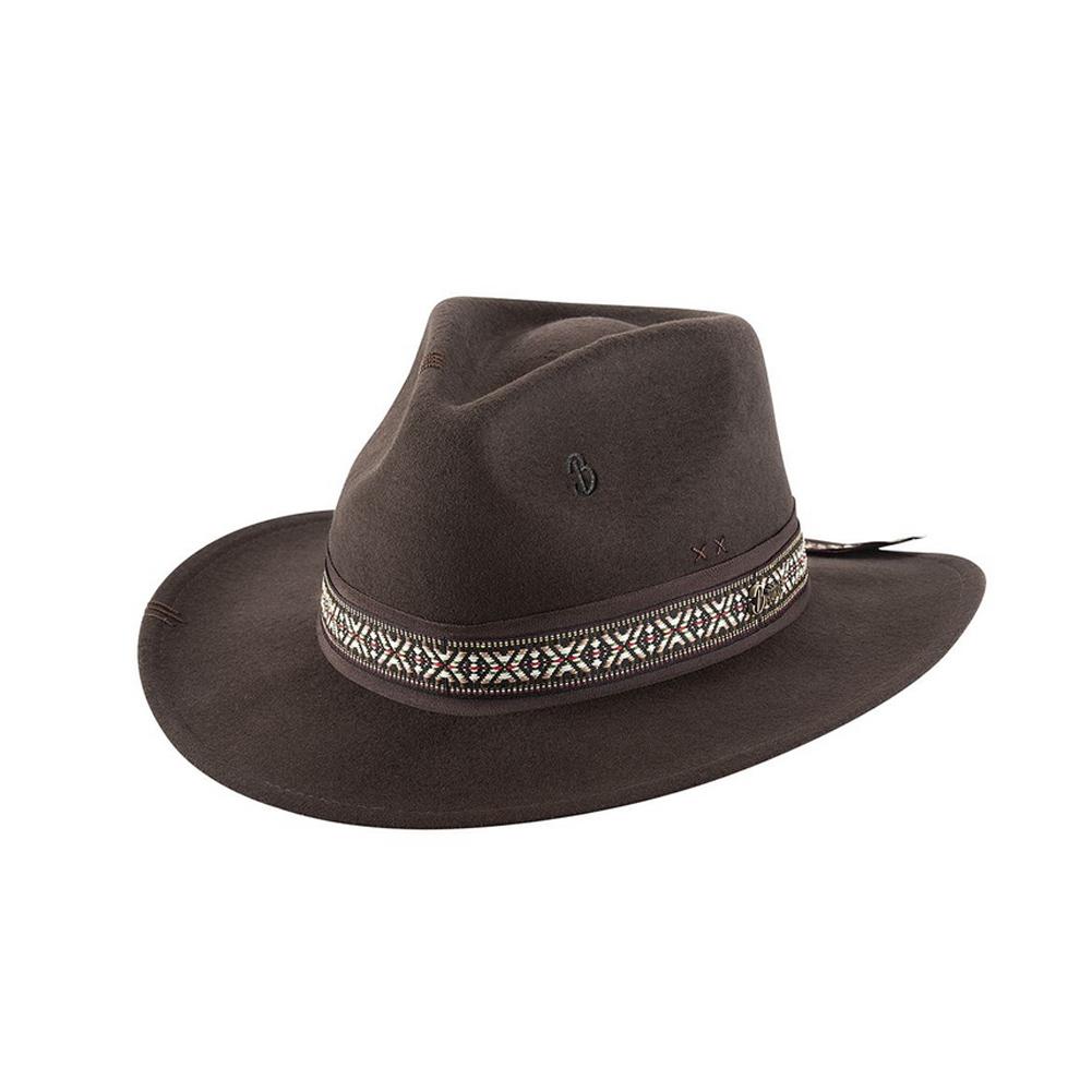 BULLHIDE Lonely Chocolate Wool Felt Cowboy Hat (BR0027)