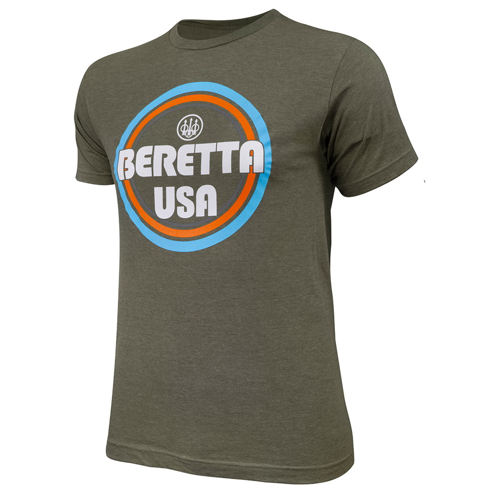 BERETTA Retro BUSA Heather Mil Green T-Shirt (TS731T189007AU)