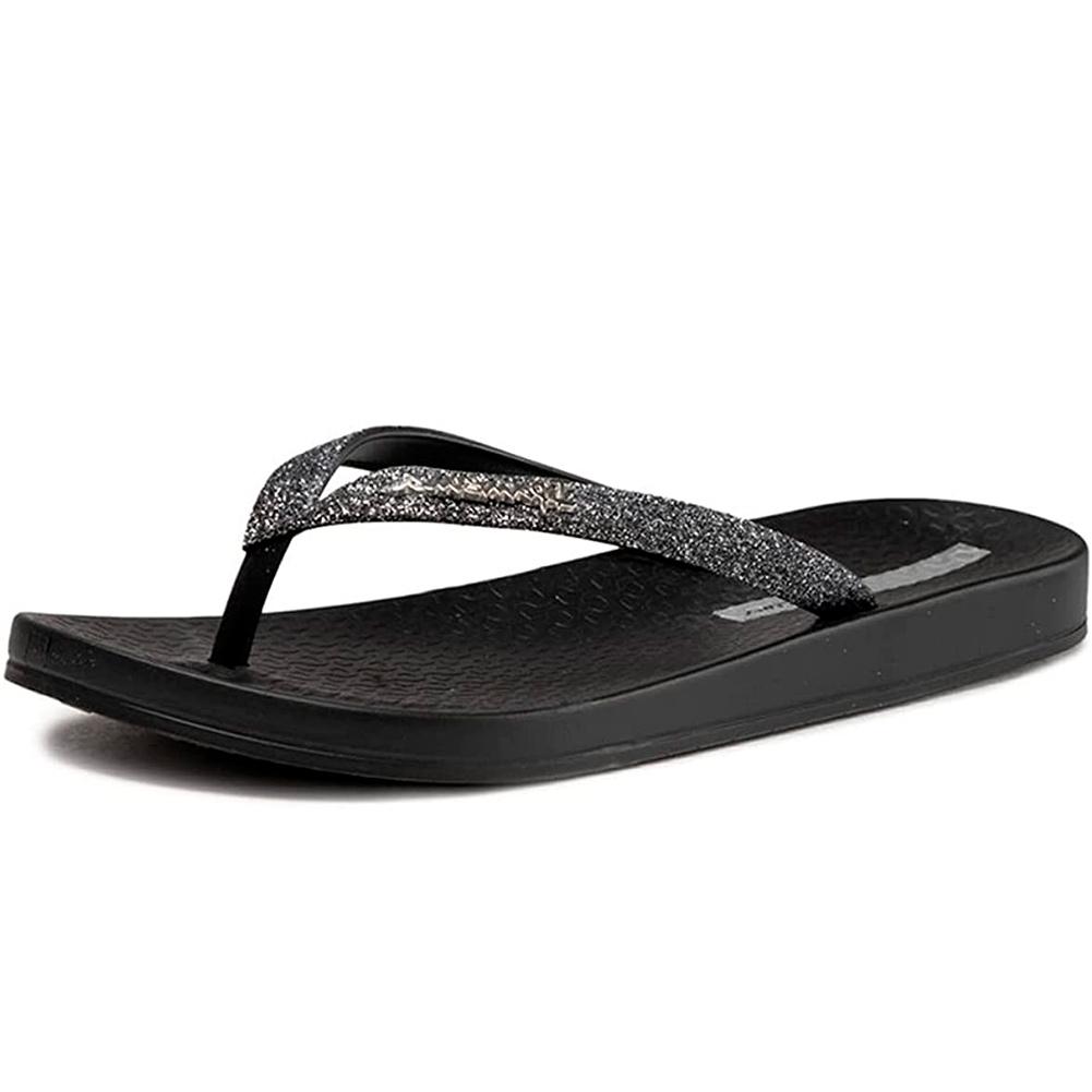 IPANEMA Women's Ana Sparkle Black Flip Flops (83140-001)