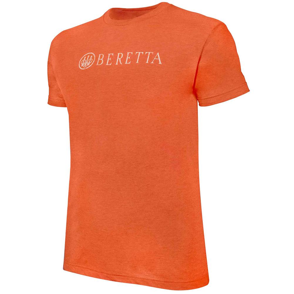 BERETTA Mens Distressed Heather Orange Classic Logo T-Shirt (TS821T1890049U)