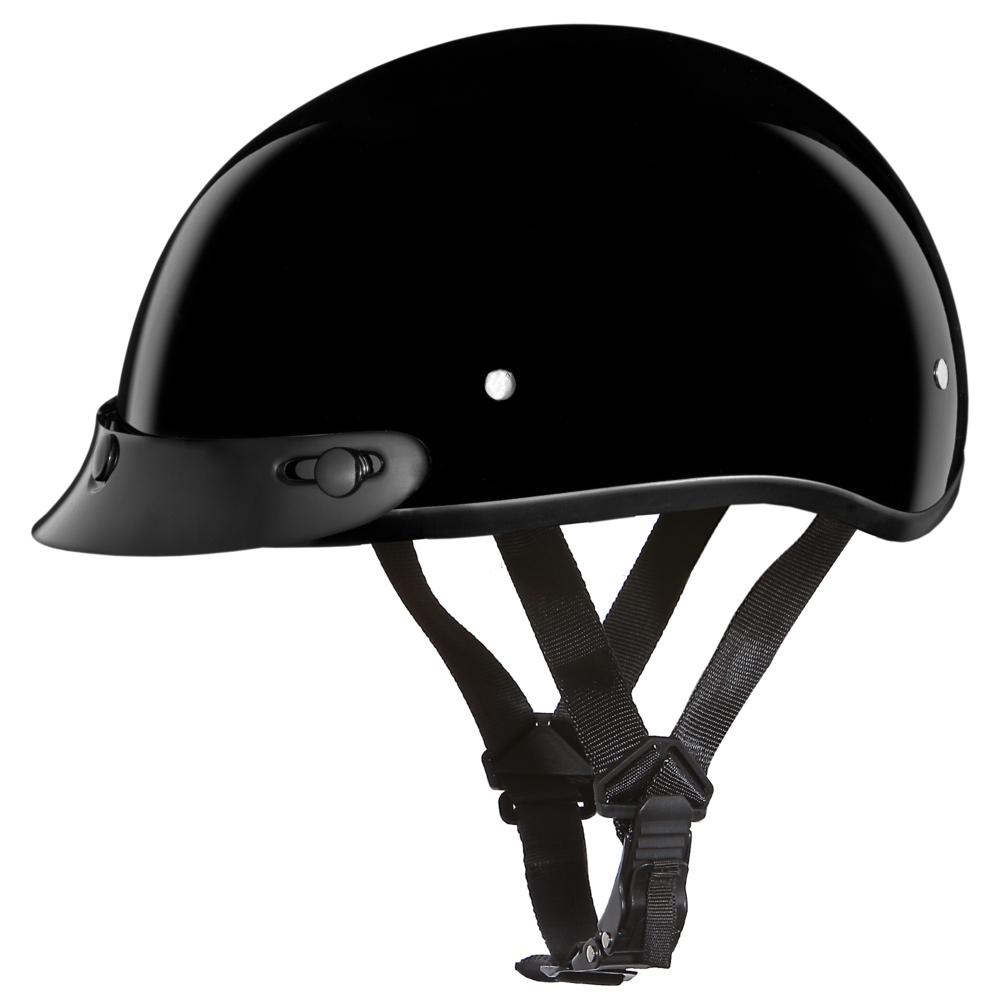 DAYTONA HELMETS Daytona Skull Cap Hi-Gloss Black Helmet (D1-A)